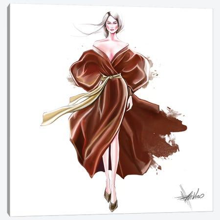 Gold Splash Canvas Print #AHV17} by AhVero Canvas Wall Art