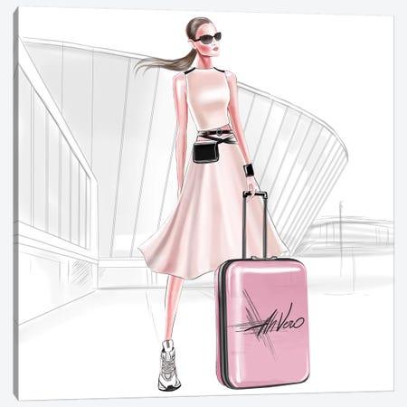 Let'S Travel Canvas Print #AHV19} by AhVero Canvas Art Print