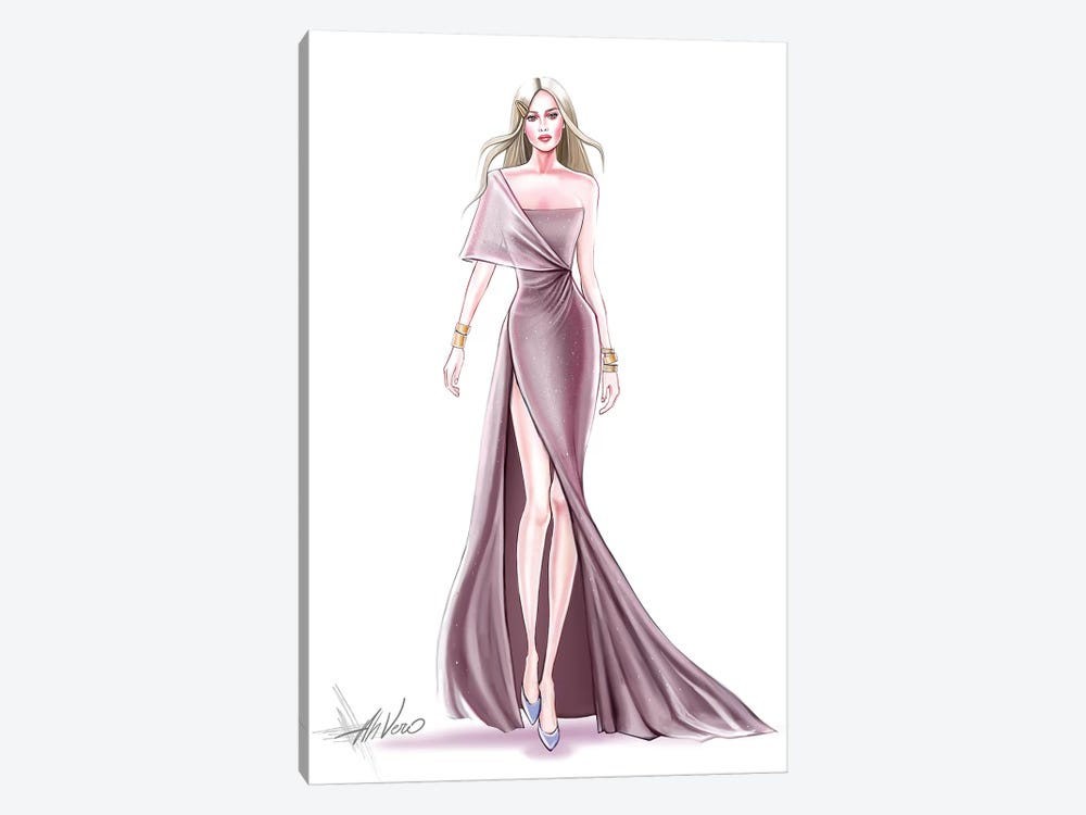 Pink Couture by AhVero 1-piece Canvas Wall Art