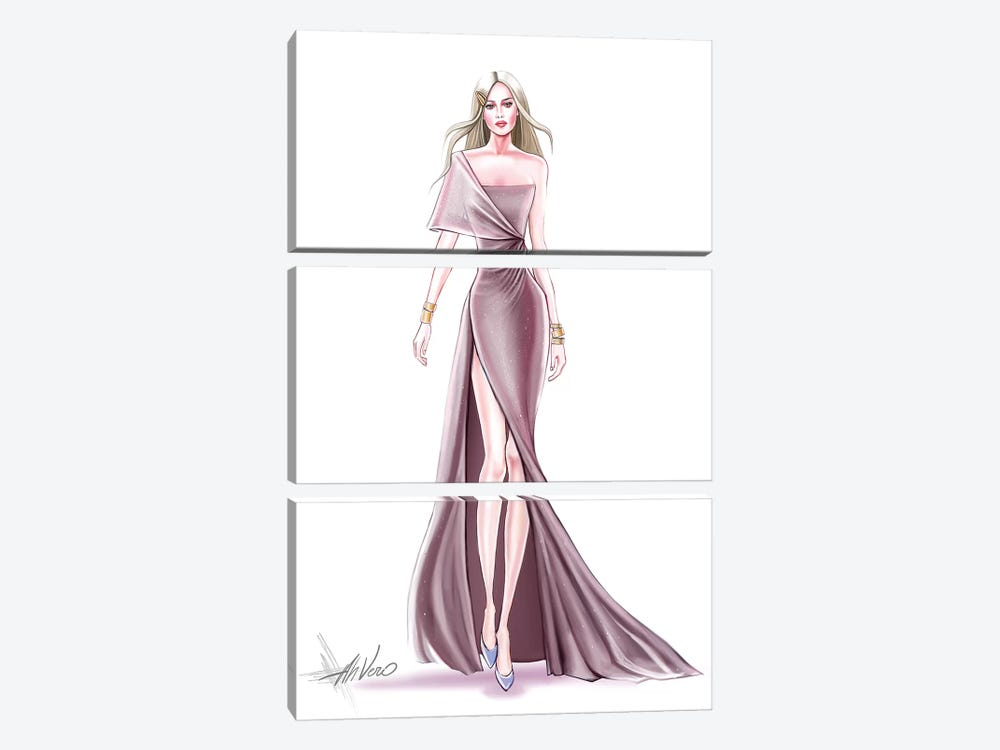 Pink Couture by AhVero 3-piece Canvas Wall Art