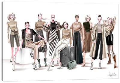 Ready To Wear Group Canvas Art Print