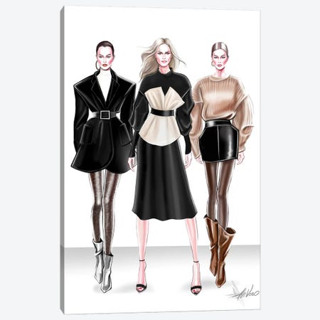 Ready To Wear Trio Canvas Print #AHV22} by AhVero Canvas Wall Art