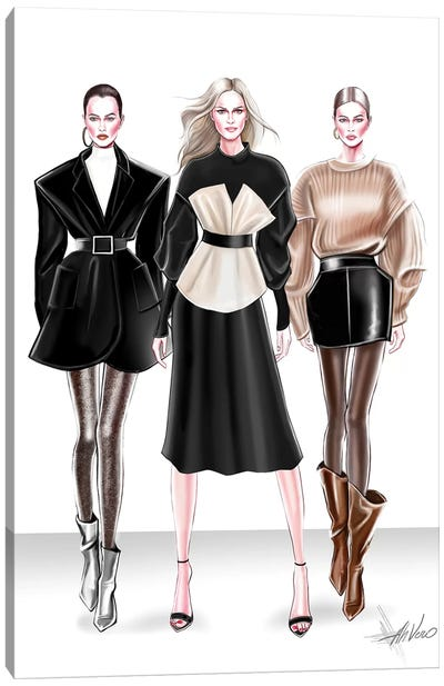 Ready To Wear Trio Canvas Art Print