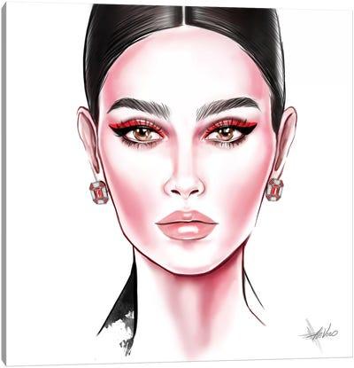 Red Eyeliner Canvas Art Print