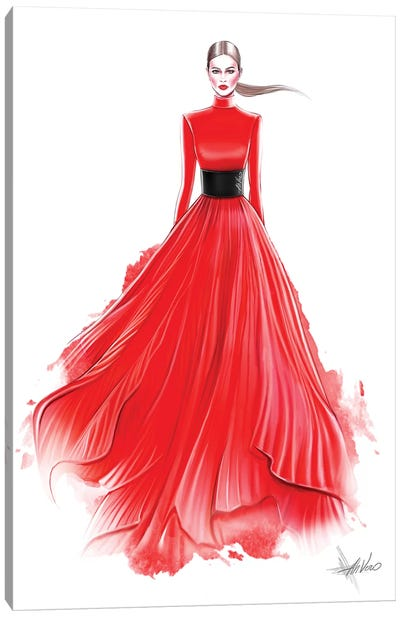 Red Red Dress Canvas Art Print