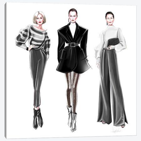 Black'N'White Trio Canvas Print #AHV2} by AhVero Canvas Print