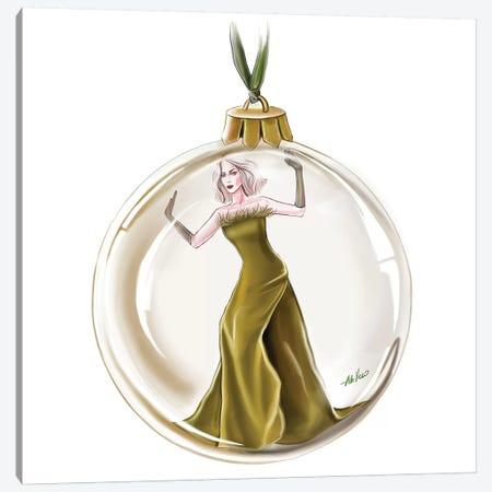 Gold Christmas Canvas Print #AHV30} by AhVero Canvas Art Print