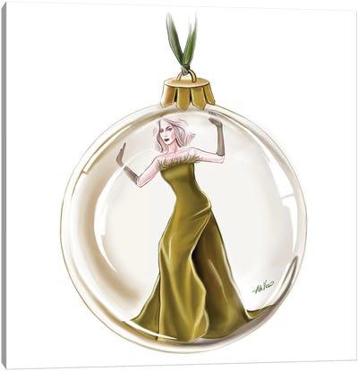 Gold Christmas Canvas Art Print