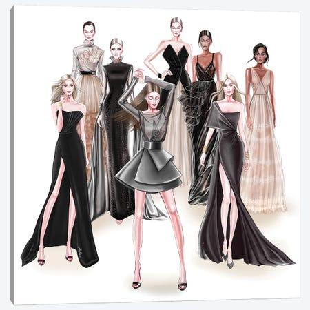 Fashion Black 3-Piece Canvas #AHV35} by AhVero Canvas Art