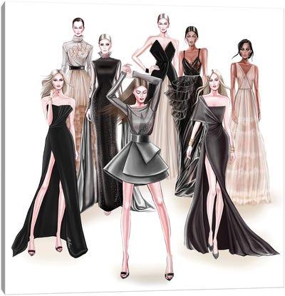 Fashion Black Canvas Art Print