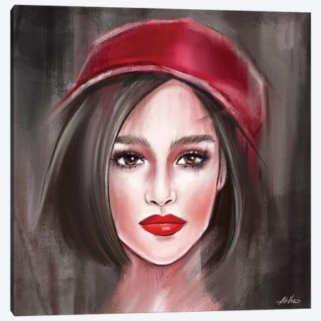 Red Hat Canvas Print #AHV37} by AhVero Canvas Artwork