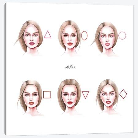 Faces Canvas Print #AHV39} by AhVero Canvas Print