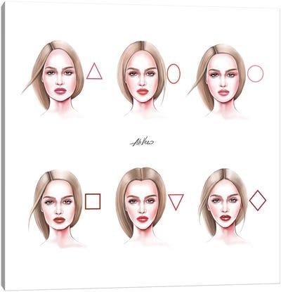 Faces Canvas Art Print