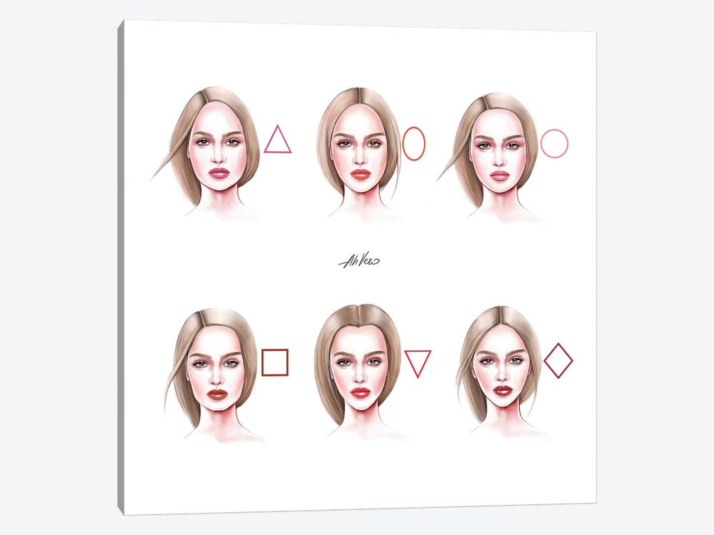Faces by AhVero 1-piece Canvas Wall Art