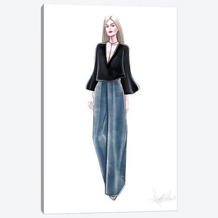 Blue Jeans Canvas Print #AHV4} by AhVero Canvas Wall Art