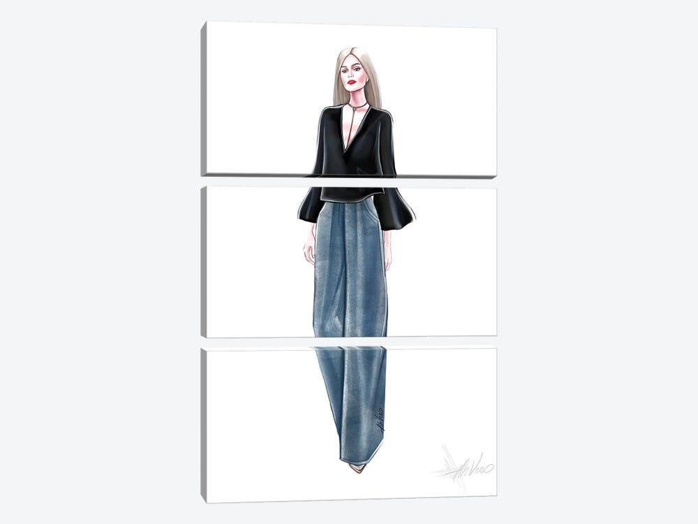 Blue Jeans by AhVero 3-piece Canvas Wall Art