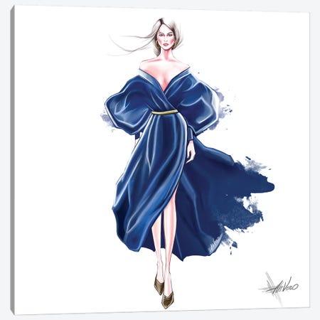 Blue Splash Canvas Print #AHV5} by AhVero Canvas Artwork