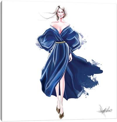 Blue Splash Canvas Art Print