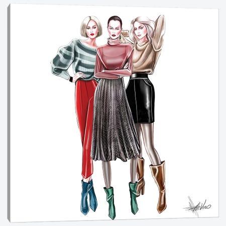 Casual Trio Canvas Print #AHV7} by AhVero Canvas Artwork