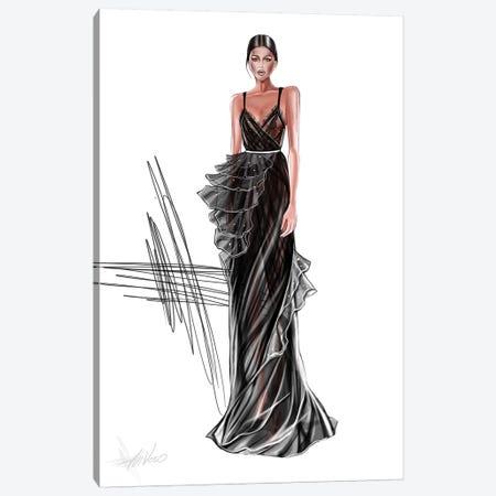 Couture Black Dress Canvas Print #AHV9} by AhVero Canvas Art Print