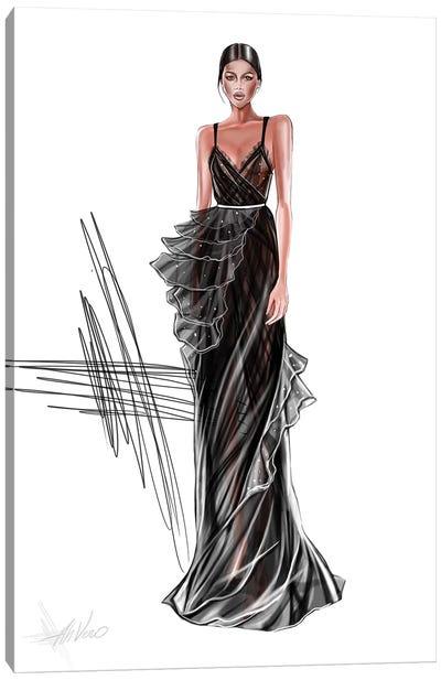 Couture Black Dress Canvas Art Print