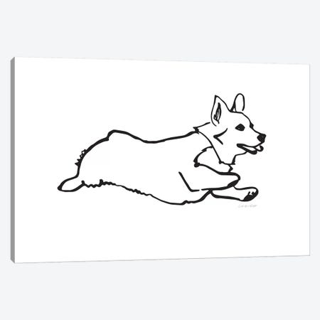 Corgi Canvas Print #AHW15} by And Here We Are Art Print