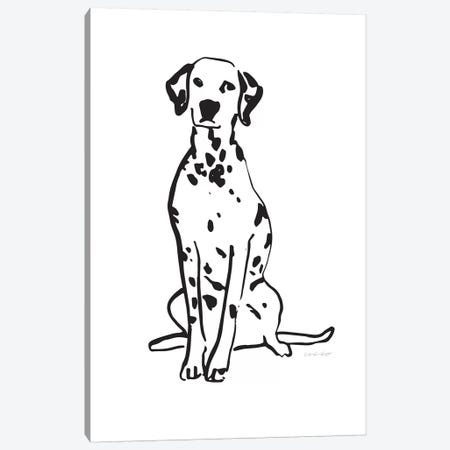 Dalmatian Canvas Print #AHW16} by And Here We Are Canvas Print