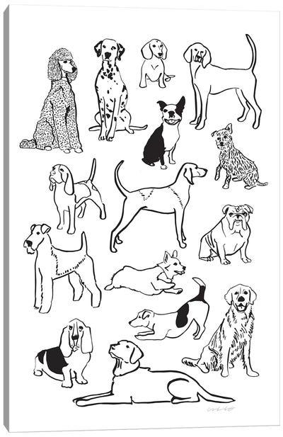 Dog Pile Canvas Art Print