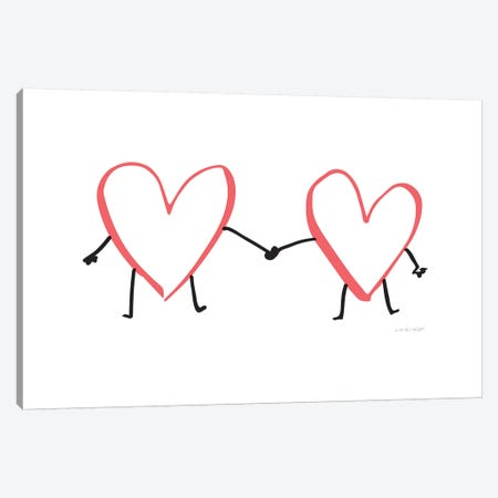 Heart Hands Canvas Print #AHW28} by And Here We Are Canvas Print
