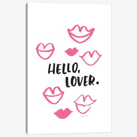 Hello Lover Canvas Print #AHW29} by And Here We Are Canvas Art Print