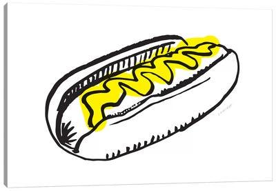 Hot Dog Canvas Art Print