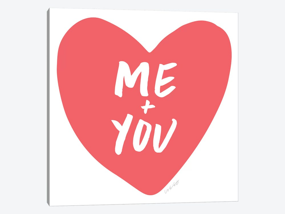 Me + You by And Here We Are 1-piece Canvas Print