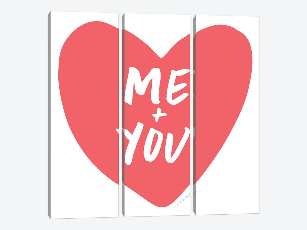 Me + You by And Here We Are 3-piece Canvas Art Print