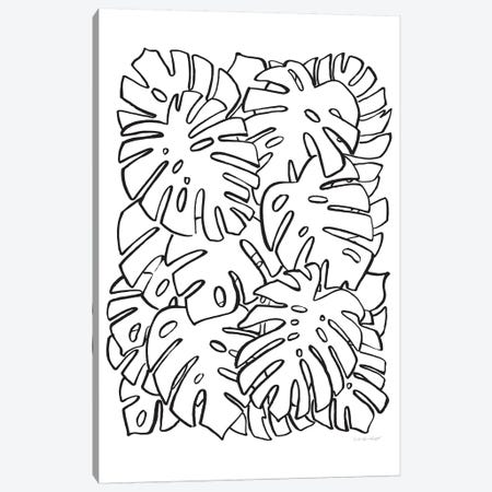 Monstera Canvas Print #AHW36} by And Here We Are Canvas Art Print