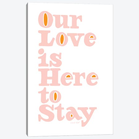 Our Love Canvas Print #AHW40} by And Here We Are Art Print