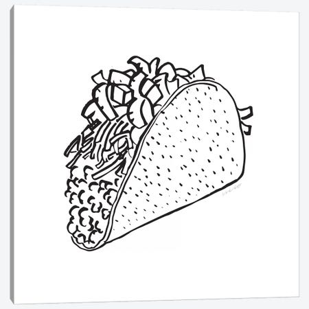 Taco Canvas Print #AHW45} by And Here We Are Canvas Wall Art