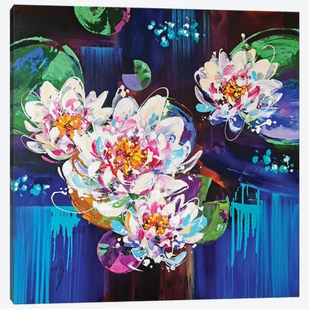 Lily Pond Canvas Print #AHZ18} by Anna Cher Art Print