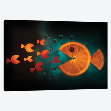 Orange Fish Canvas Print #AIA2} by Aida Ianeva Canvas Wall Art
