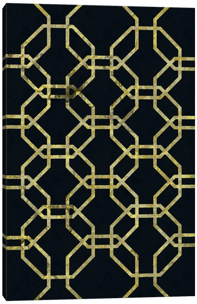 Geometric Dialogue Canvas Art Print