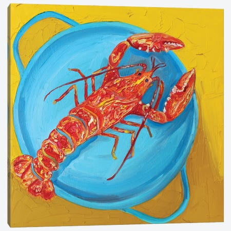 Lobster in a Pot Canvas Print #AIE19} by Alice Straker Canvas Print
