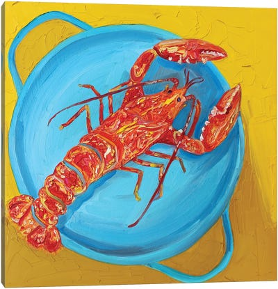 Lobster in a Pot Canvas Art Print