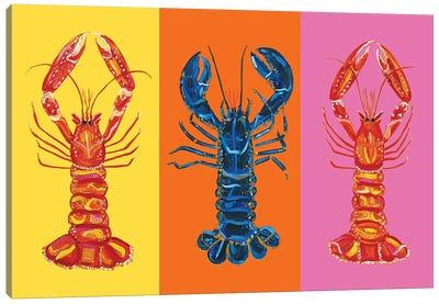 Lobster Langoustines Love Canvas Art Print