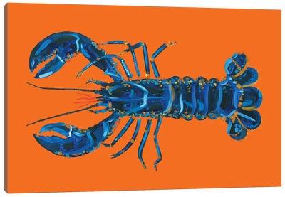 Lobster on Orange Canvas Art Print