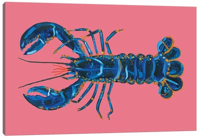 Lobster on Pink Canvas Art Print