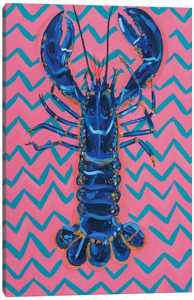 Lobster on Zigzag Canvas Art Print