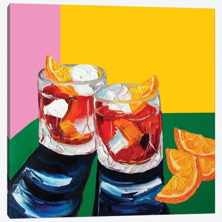 Negronis Canvas Print #AIE25} by Alice Straker Art Print
