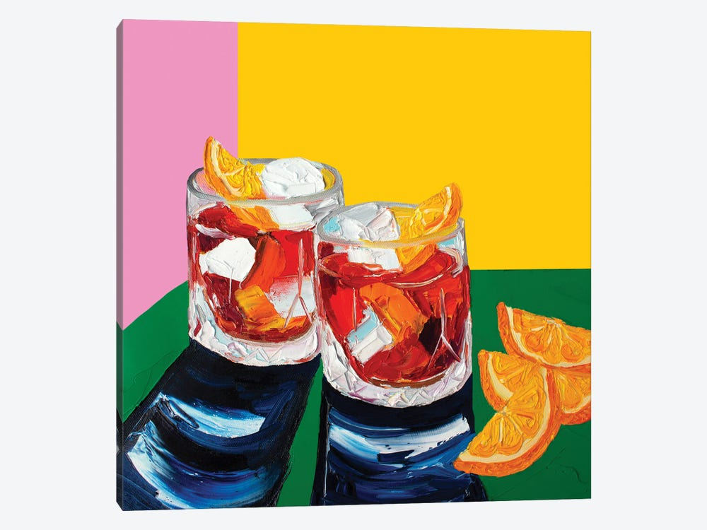 Negronis by Alice Straker 1-piece Canvas Wall Art
