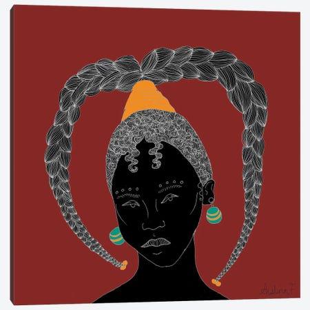 Hear Me - Red Canvas Print #AIF21} by Aislinn Finnegan Art Print