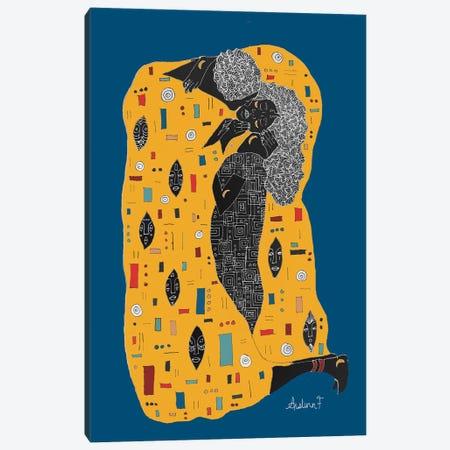 Klimt Noir - Blue Canvas Print #AIF23} by Aislinn Finnegan Art Print