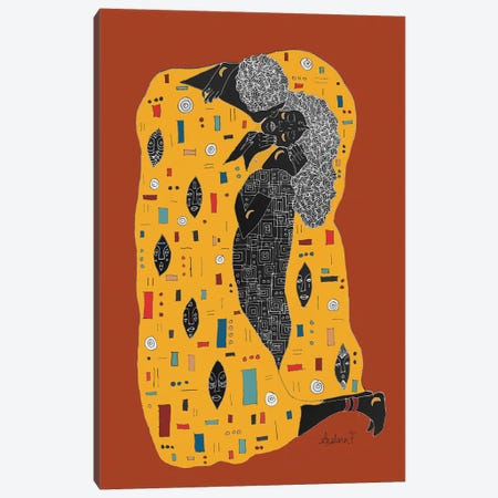 Klimt Noir - Brown Canvas Print #AIF24} by Aislinn Finnegan Canvas Art